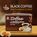 Ganoderma Reishi Mushroom Powder 2 in 1 Private Label Black White Wholesale Instant Coffee