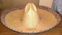 mexico custom printing foldable straw sombrero hat with string