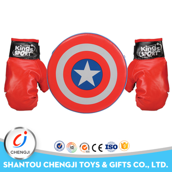Funny plastic ourdoor kids play boxing glove professional