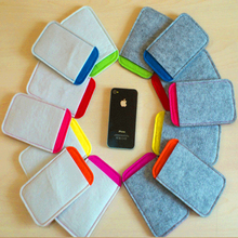 Hot selling cheap custom design felt case mobile phone cover