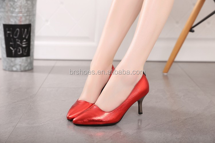 Latest Design 7cm wholesale Fashion Pencil Ladies High Heel Shoes Made In China , sexy high heel dancing shoes