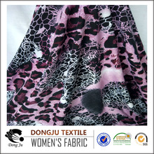 DongJu Textile Knitting FDY one side brush jersey fabric Printind Polyester Spandex Fabric Textile Material