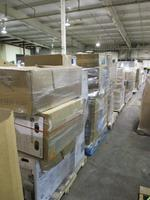 PARTIAL TRUCK MULTI PALLET LOT INCLUDES 13 PALLETS OF TUBS, TOILETS, VANITY CABINETS MEDICINE CABINETS, TOILET SEATS, & ...