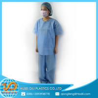 medical scrub suit uniform/medical scrub pants wholesale/high quality nurse chinese collar scrub suit