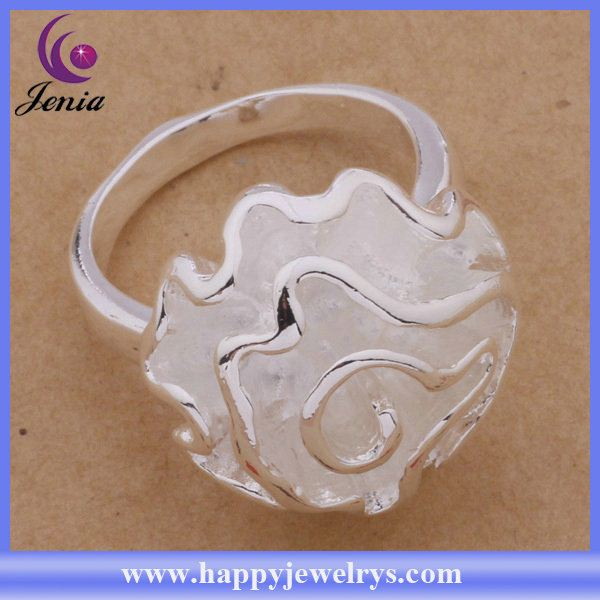 Hot selling fashion jewelry ring 925 silver plated bali silver poison ring AR286