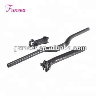 Professional custom China manufacturer high quality mountain bikes parts cycling riser mtb full carbon bicycle handlebar