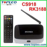 CPU RK3188 CS918 Quad Core Android 4.2 Smart TV Box Android TV Box VPN