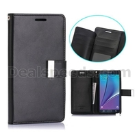 Mercury Goospery Rich Diary Wallet Style Magnetic Flip TPU+PU Leather Case for Samsung Galaxy Note 5