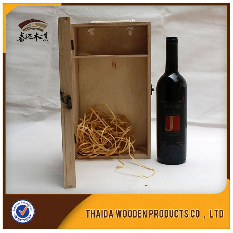 Convenient Transportation Skillful Production Printed 2 bottle wooden Wine Box