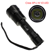 Ultrafire C12 Cree XP-L HI V2 LED Brass Copper Base 10x7135 Driver 3500mA 5-Mode LED Rechargeable Flashlight Torch