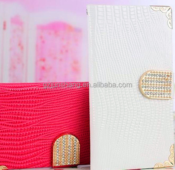 Lizard emboss note book cover material popular sell use for handbags & mobile phone cover
