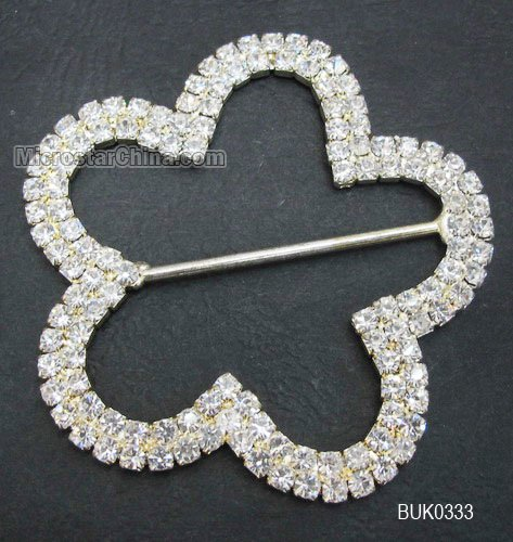 silver plated flower shaped outer 65mm inner D 53mm rhinestone & copper base wedding jewelry