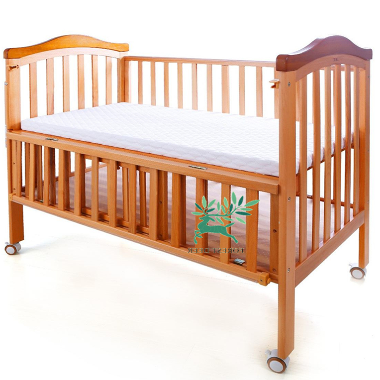 2017 Hot Sale 3 in 1Convertible Pine Solid Wood Baby Cribs
