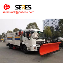 DongFeng tianjin 4X2 truck mounted snow blowers snow removal vehicles road snow sweeper