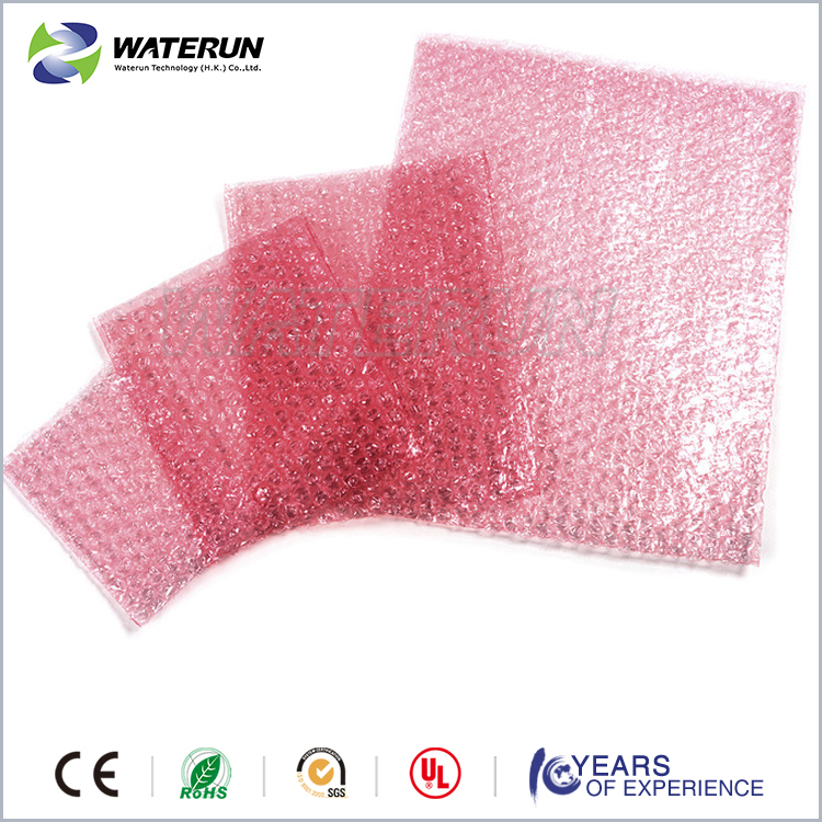esd bubble bag,air bubble pink antistatic bag for packing clips /CD