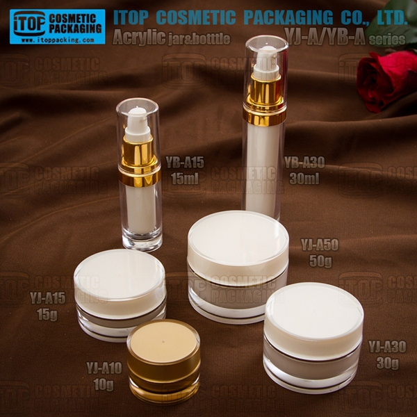 YB-A/YJ-A series acrylic plastic cosmetic packaging varied capacities popular plastic cylinder container