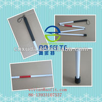 aluminum folding blind walking stick cane for Blind or visually impared people