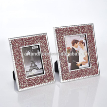 mosaic design diamond cutting edges galss picture frame