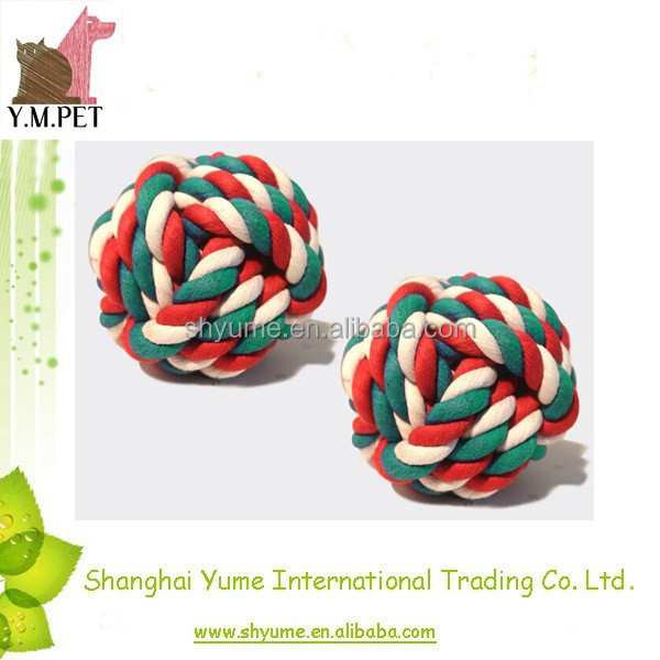 Colorful Rope Ball Toys Dog Chewing Toys