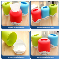 Colorful Clear Tissue Box Cover Holder Plastic/plastic tissue box/plastic injection mould
