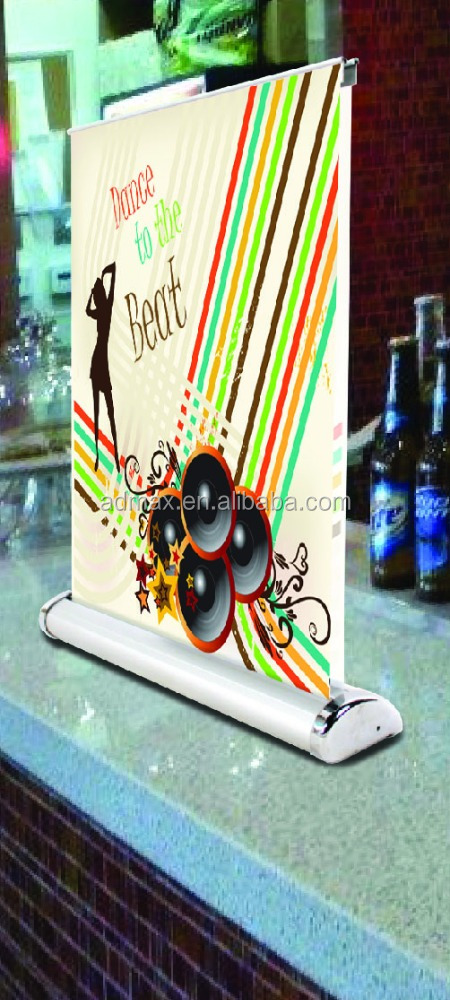 Tabletop roll up banner stand mini desktop pull up stand
