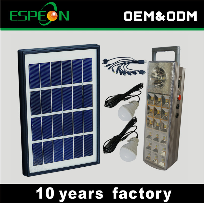 Sales promotion portable 10w solar power system home solar panel kit for Africa market