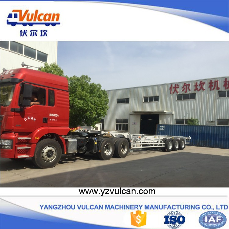 Factory price 20ft 40ft container transport semi trailer chassis