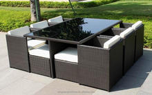 TX-R38 Best selling outdoor cube dining set synthetic rattan furniture