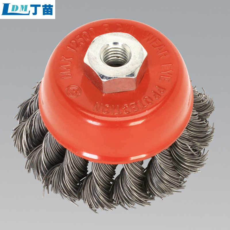 high quality chip removing nylon wheel brush
