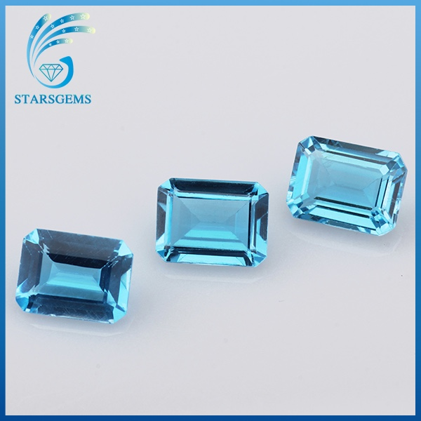 natural gemstone type material and high quality natural blue topaz beads