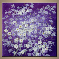 Wholesale Handmade Abstract Flower Painting For Modern Home