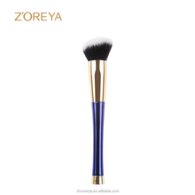 Angled Contour brush for blusher makeup with amazing blue handle