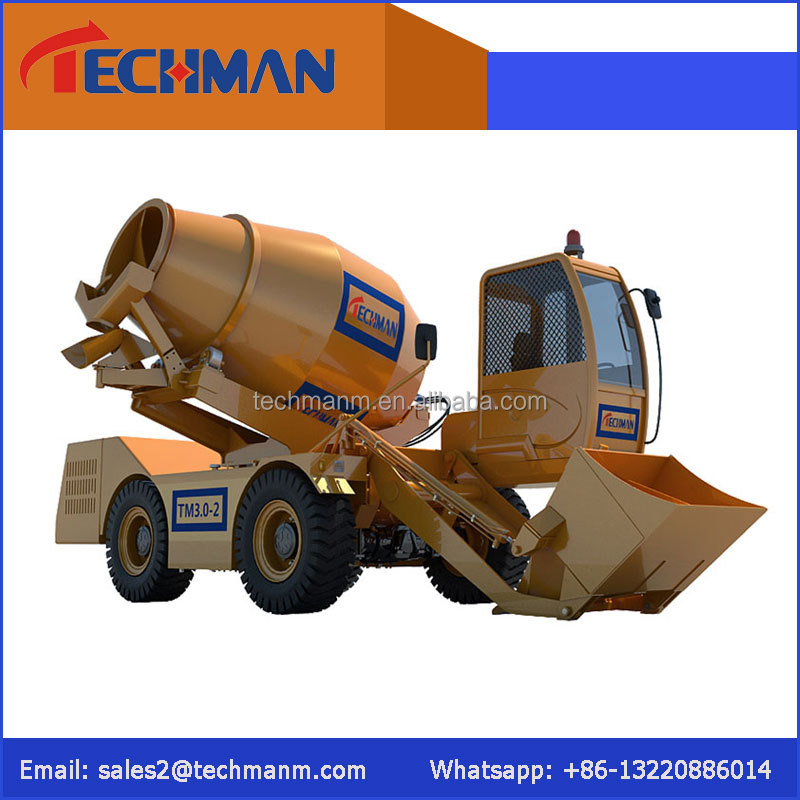 2 m3 Diesel Mobile Concrete Mixer /Precast Small Mobile Self Loading Concrete Mixer Truck for Sale