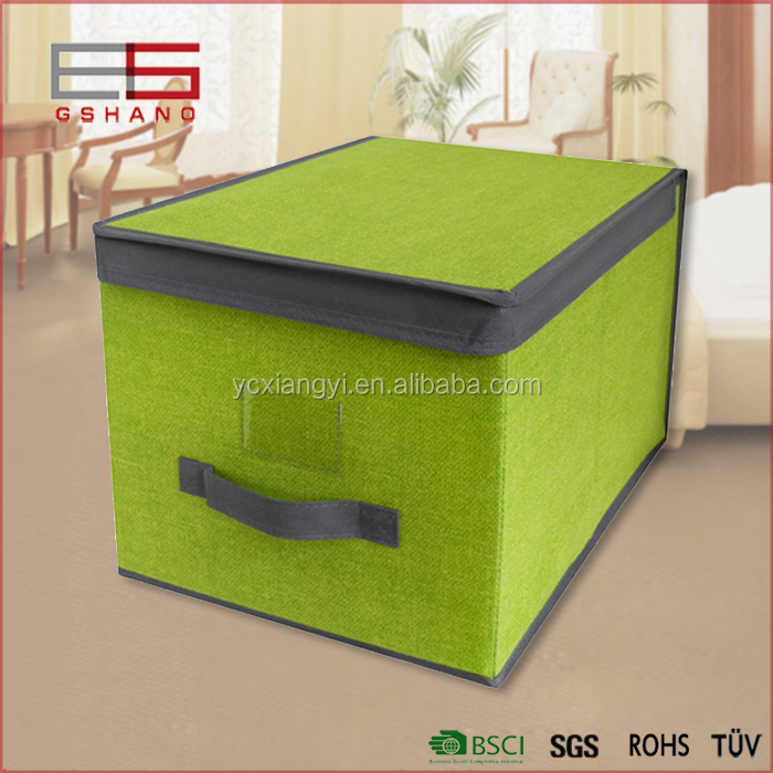 wholesale fabric storage box lead lined with handle