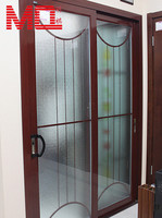 wood grain grill decorative frosted glass interior doors factory