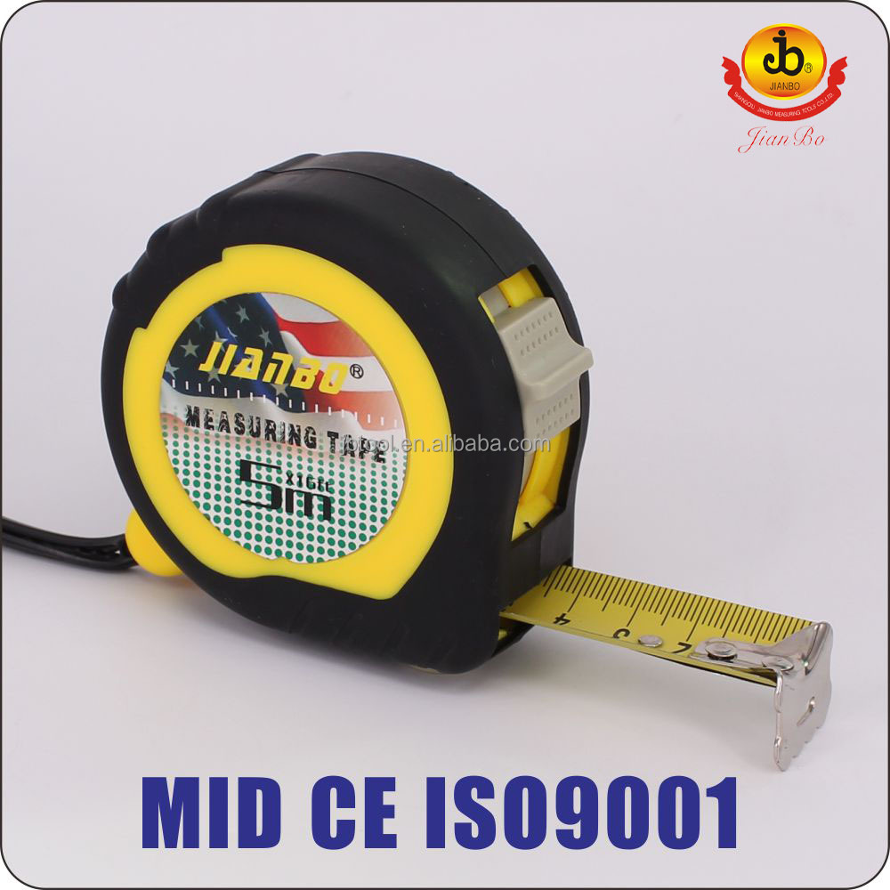 new design rounded Co-molded 2 Brake Measuring Tape Factory