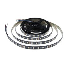 16.4ft 5050 RGBWW RGB Warm White 4 in 1 Color Changing Flexible LED Strip Light 5m 300 LEDs Not Waterproof Black PCB 24V DC for