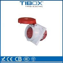 Newly developed fireproof industrial panel mount electrical socket
