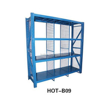 High quality HOT-B09 blue four layers heavy duty storage rack for warehouse storage