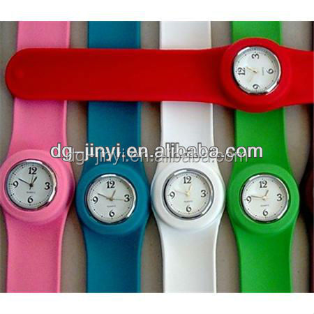 silicone slap on watch for promotional gifts