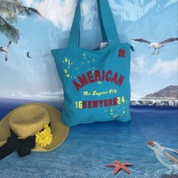 2015 Popular promotional shopping tote bag beach bag