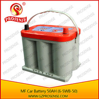 2 Times long life span 12V dry car battery used as normal 100ah MF battery