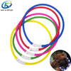 Glowing Decoration Pet Chain Silicone LED Dog Collar and Leash