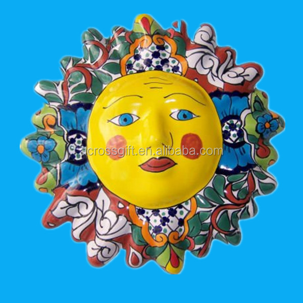 hand painted home decorative ceramic faces for crafts