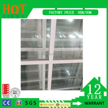 Office Sliding Glass Window UPVC Double Glazing Window Plastic Frame UPVC Window Prices