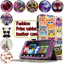 Smart Tablet Leather Case Cover For Amazon Kindle Fire HD 7 inch Folio Stand Leather Case