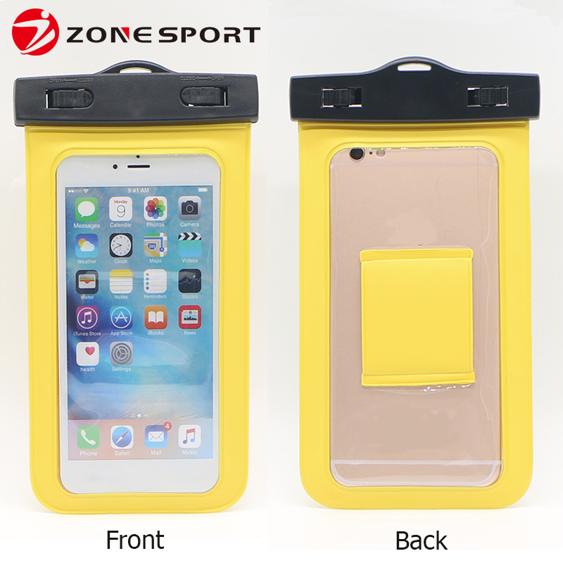 Dive Into 30m Water Cheap PVC Mobile Phone Waterproof Case With Armband