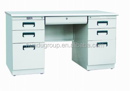 Teacher Office Metal Desk with 6 Drawer Filing Cabinet