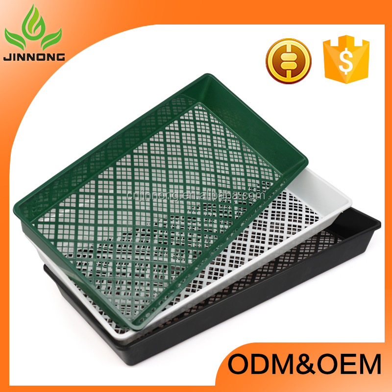 2017 hot sale rectangle plastic hydroponics plant seedling nursery trays wholesale