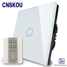 Cnskou 433mhz remote control 5A 1gang red/blue backlight touch light switch SK-A801-03-EU